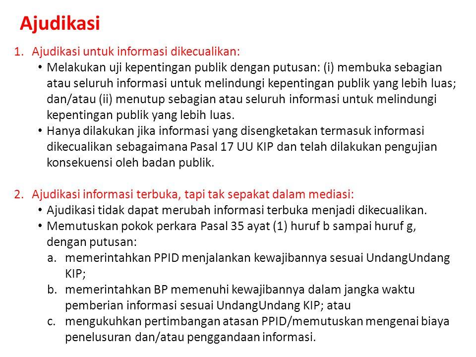 PERSIAPAN MEDIASI Mediasi adalah penyelesaian Sengketa Informasi Publik antara para pihak melalui bantuan mediator komisi informasi (Ps 1 Perki PPSIP)