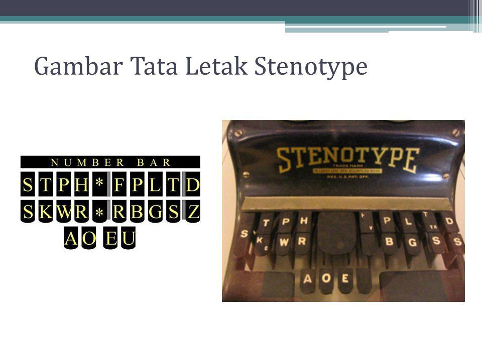 Gambar Tata Letak Stenotype