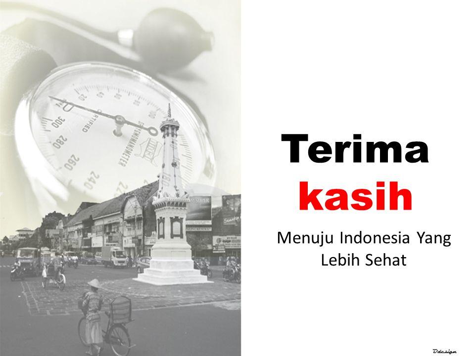 Terima kasih Menuju Indonesia Yang Lebih Sehat