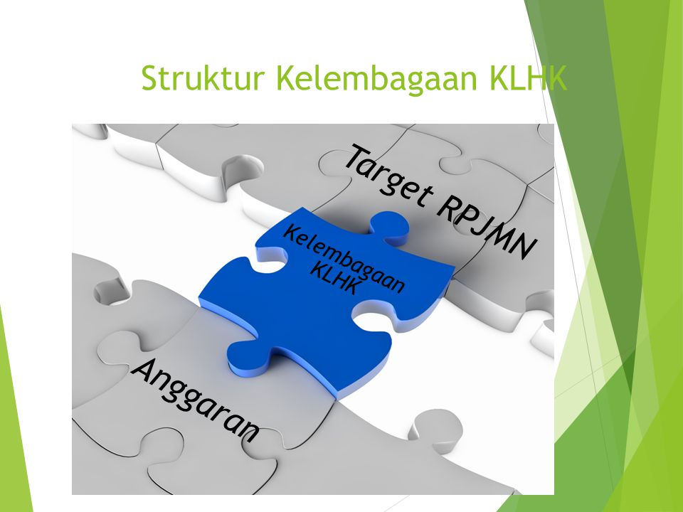Struktur Kelembagaan KLHK Target RPJMN Kelembagaan KLHK Anggaran