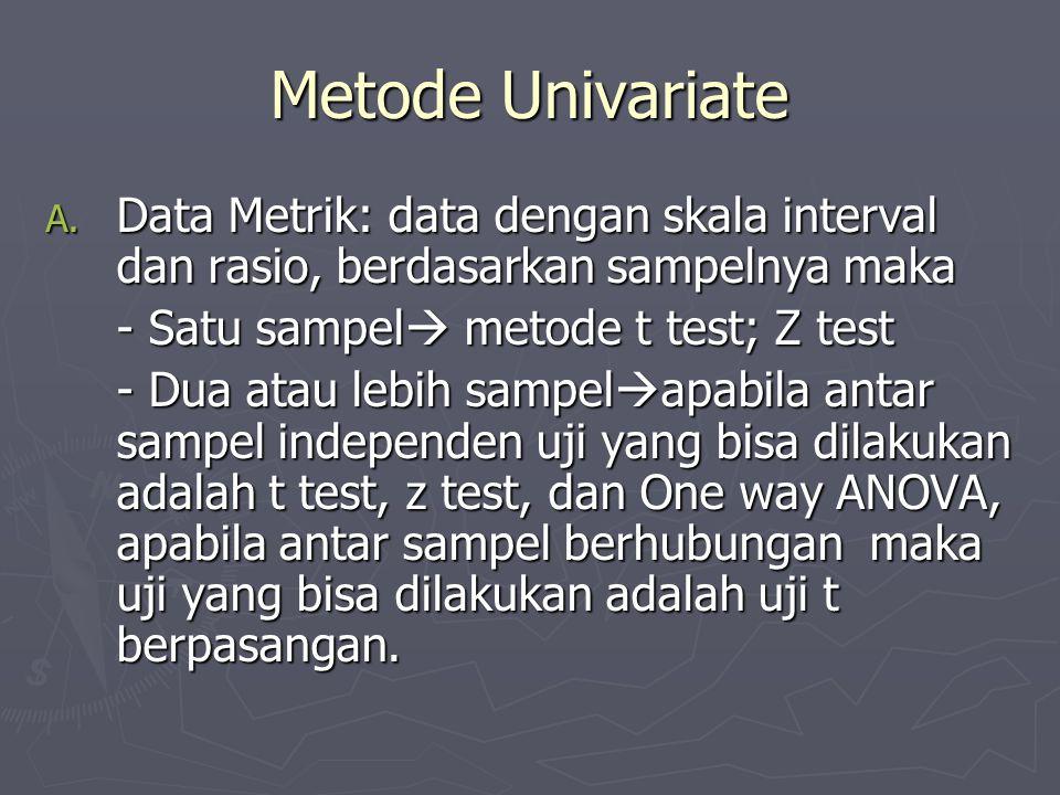 Metode Univariate A.