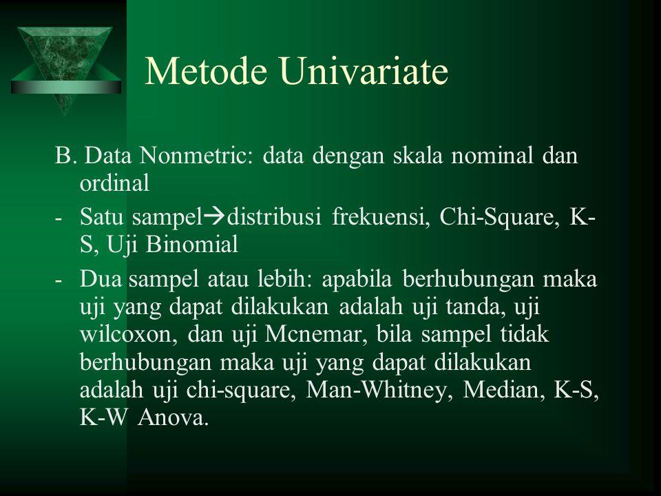 Metode Univariate B.