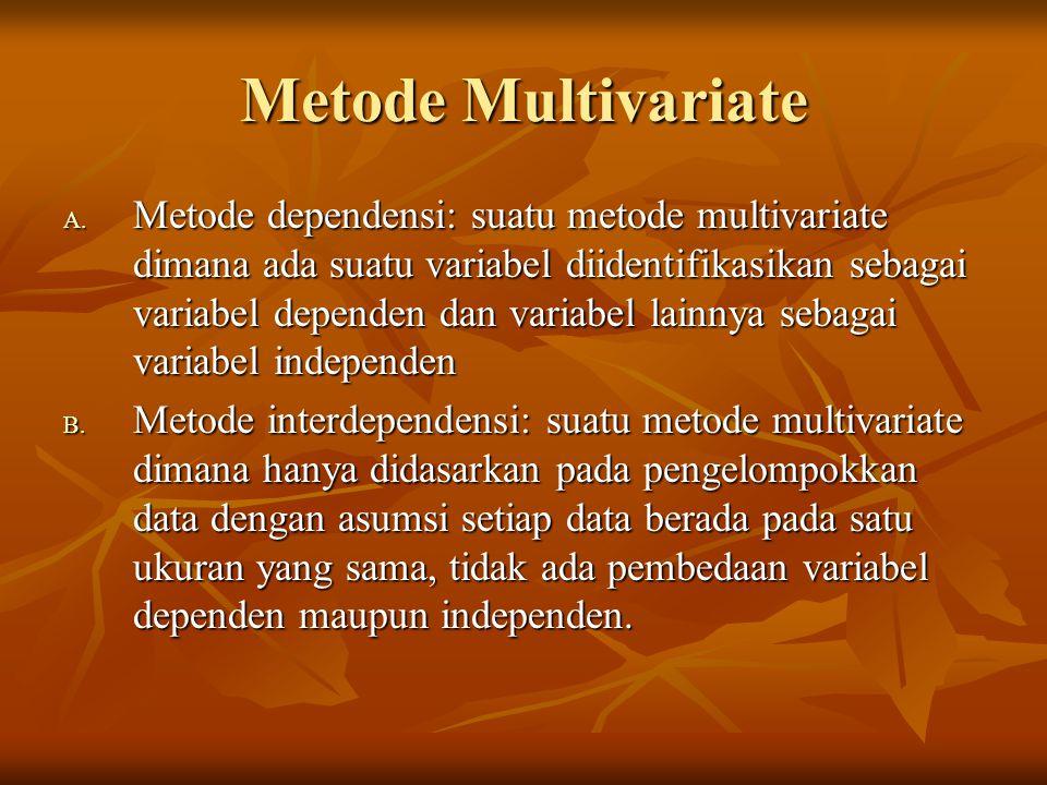 Metode Multivariate A.