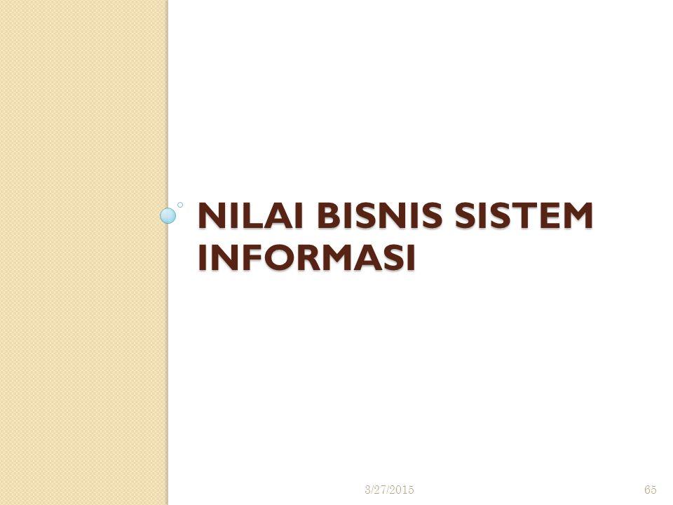 NILAI BISNIS SISTEM INFORMASI 3/27/201565