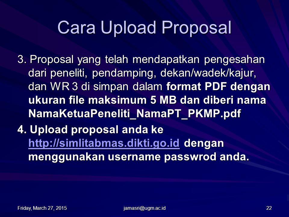 Cara Upload Proposal 1.