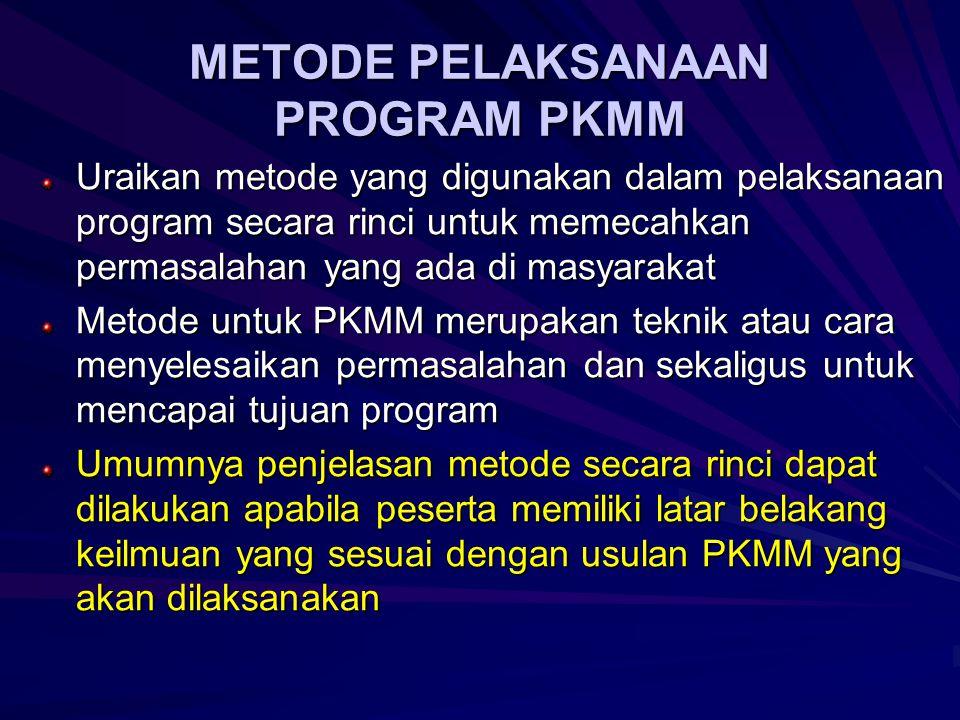   Prosedur Disain/Perencanaan, sertakan pertimbangan/alasan pemilihan bahan/komponen   Prosedur Pembuatan karya teknologi   Prosedur Kalibrasi (kalau ada)   Prosedur uji coba karya teknologi dan atau uji coba produk Memilih Metode Pelaksanaan Program Yang Tepat dalam PKMT/PKMKC