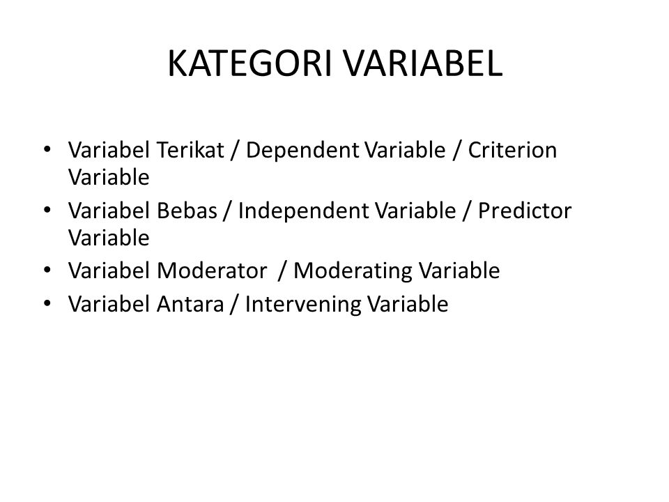 A Classification of Multivariate Techniques Dependence Techniques Interdependence Techniques Satu Dependent Variable Lebih dari Satu Dependent Variabl