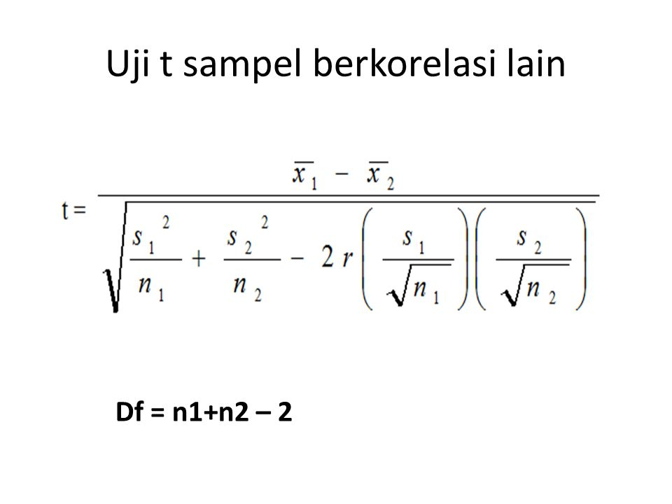 Pengujian hipotesis Cari nilai t tabel pada taraf signifikansi 5 %: df = n – 1 df = 6 – 1 = 5 Uji 2 pihak Nilai t tabel = 2,571 th= 0,791 tt= 2,571 tt