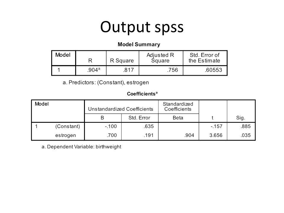 EPI 809/Spring 200890 Parameter Estimation Solution Y = 0,70 X – 0,10 1.0,7 X = bermakna pengaruh positif, 1 perubahan mengakibatkan Y berubah 0,7 2.K