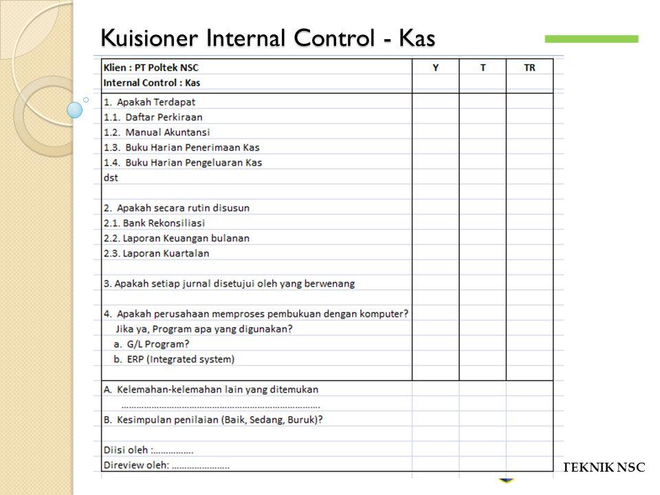 Kuisioner Internal Control - Kas POLITEKNIK NSC