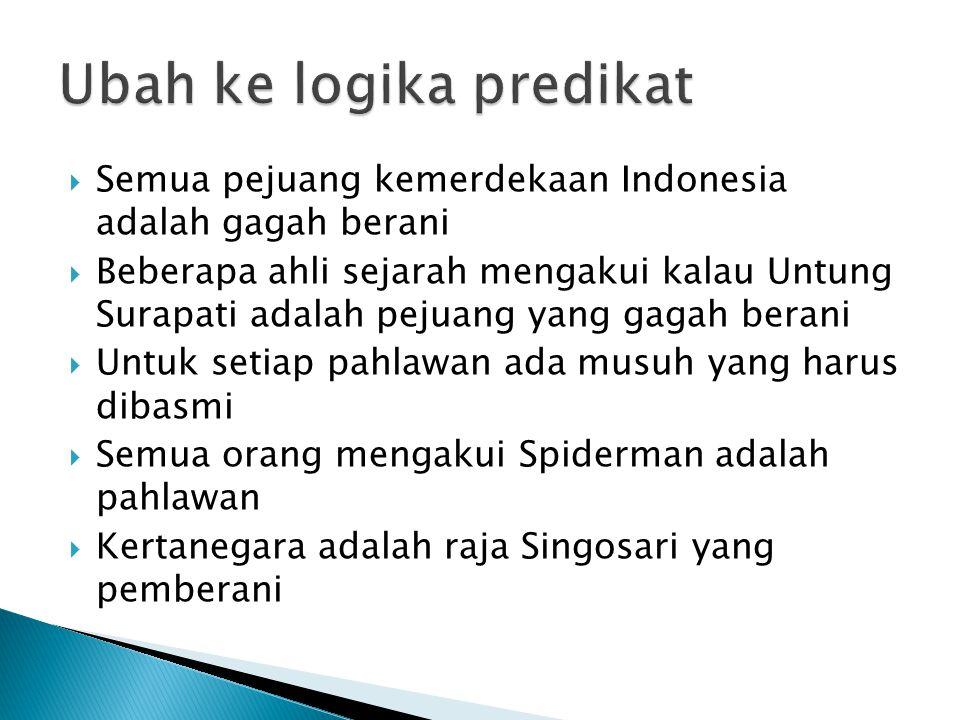  Semua pejuang kemerdekaan Indonesia adalah gagah berani  Beberapa ahli sejarah mengakui kalau Untung Surapati adalah pejuang yang gagah berani  Un