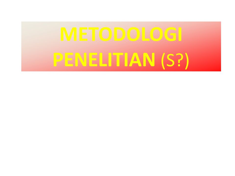 RESEARCH PARADIGM (read) THEORY/CONCEPT (review) PROBL.