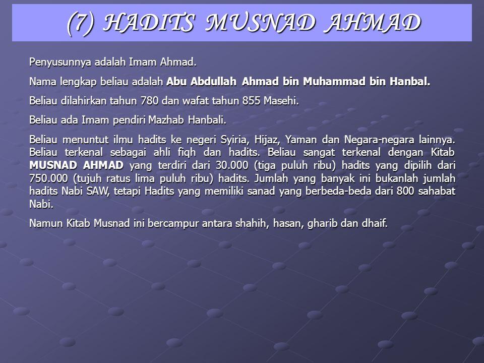 Penyusunnya adalah Imam Ibnu Majah. Nama lengkap beliau adalah Abu Abdullah Muhammad bin Yazid al Qazwini. Beliau lahir tahun 824 M dan wafat tahun 88