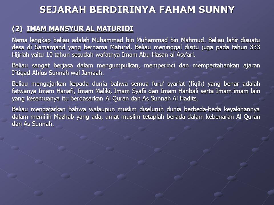 Kemudian disebarkan lagi di berbagai dengan oleh beberapa Imam diantaranya : 1.Syeikh Abdullah as Syarqawi (wafat 1227 Hijriah) pengarang Kitab Syarqa