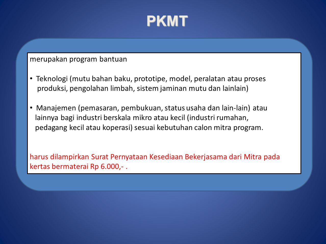 PKMK merupakan program pengembangan ketrampilan mahasiswa dalam berwirausaha dan berorientasi pada profit. Komoditas usaha yang dihasilkan dapat berup