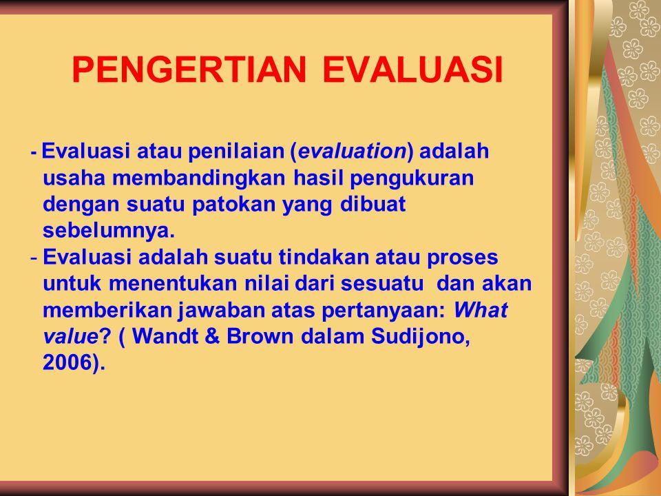 Penilaian Acuan Patokan (PAP) – Criterion Referenced Approach/Evaluation bercirikan: a.