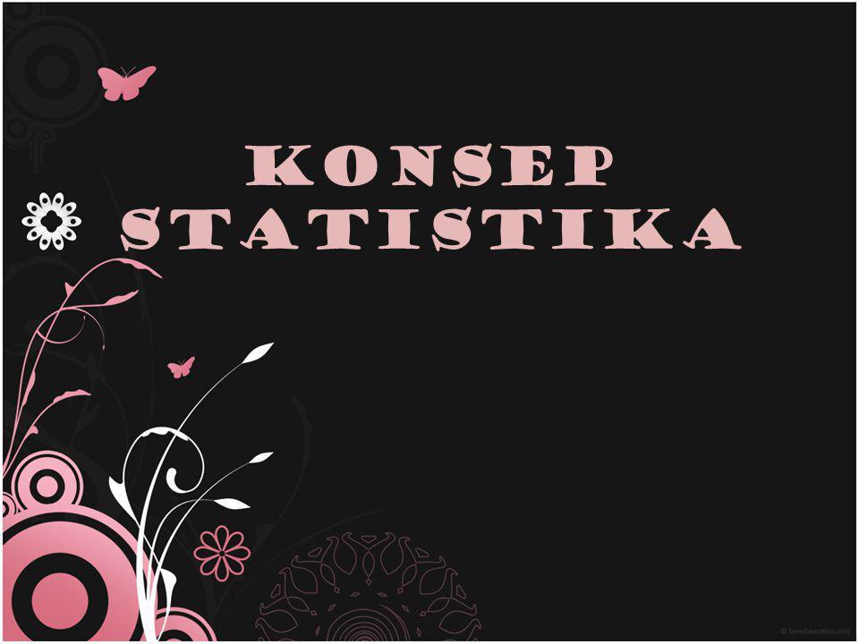 Statistik VS Statistika Statistik – merupakan kumpulan dari data – data yang sering dinyatakan atau disajikan dalam bentuk daftar/ tabel, diagram garis, diagram batang, diagram lingkaran, histogram, polygon frekuensi dan ogive yang mengambarkan suatu persoalan tertentu.