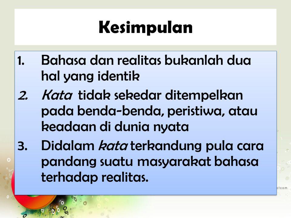 Contoh Bahasa Indonesia Kata tua dan muda untuk membedakan ketajaman sinar gelombang warna.