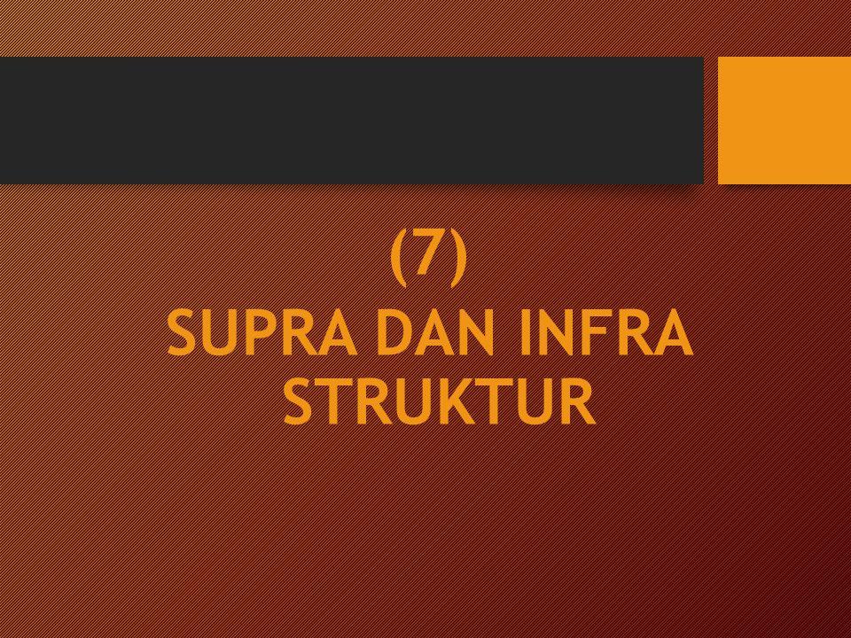 (7) SUPRA DAN INFRA STRUKTUR