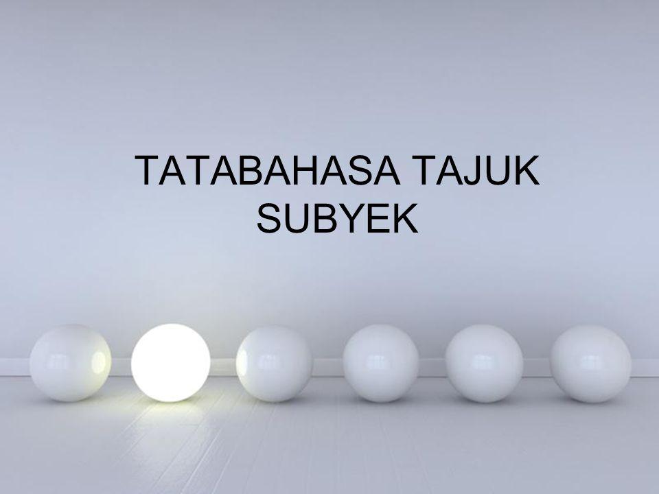 Powerpoint Templates TATABAHASA TAJUK SUBYEK