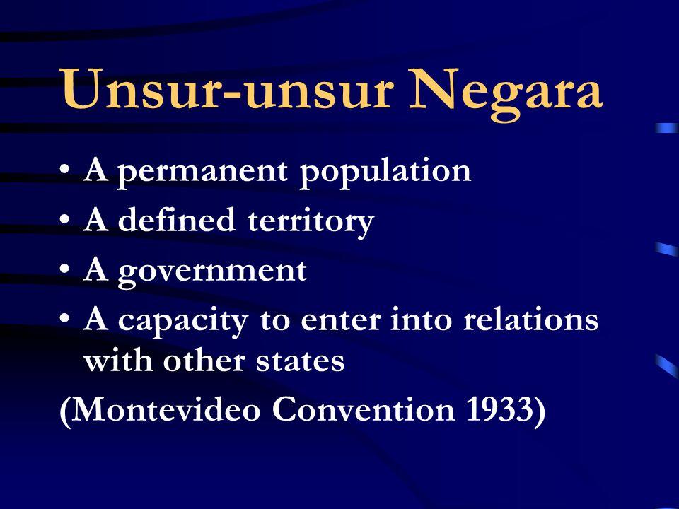 Negara (state) dan Pemerintahan (government)