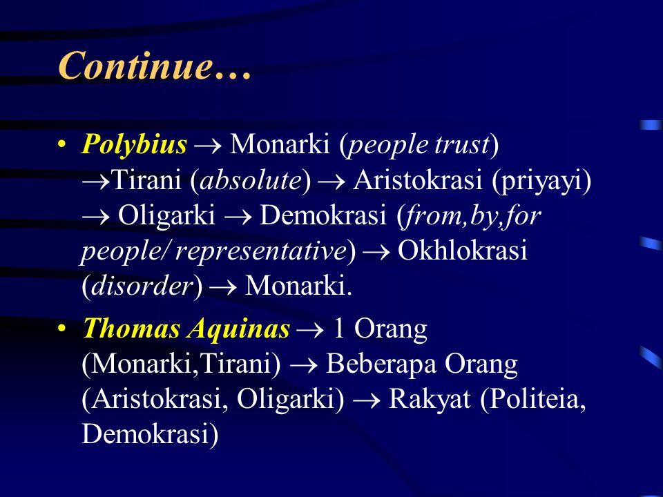 Tabel Bentuk Negara Aristoteles