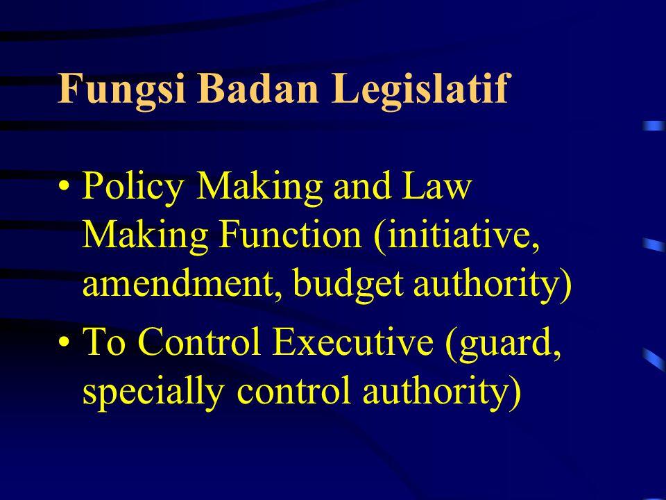 Hakikat Fungsi Legislatif Upaya Mencegah terjadinya absolutisme pemerintahan.