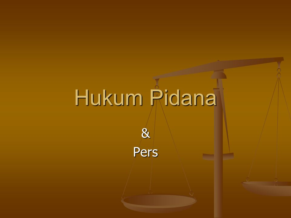 Hukum Pidana &Pers