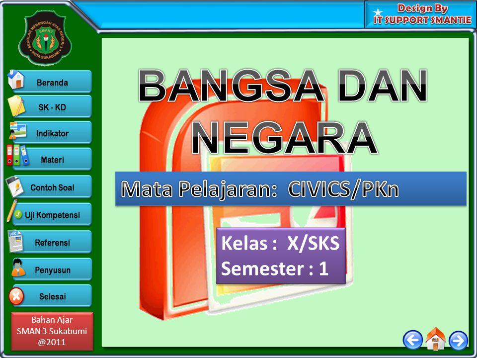 Bahan Ajar SMAN 3 Sukabumi @2011 Bahan Ajar SMAN 3 Sukabumi @2011 Kelas : X/SKS Semester : 1 Kelas : X/SKS Semester : 1