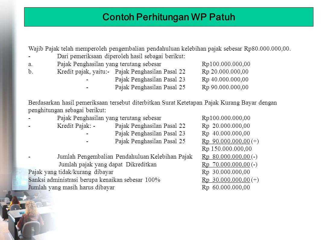 Wajib Pajak telah memperoleh pengembalian pendahuluan kelebihan pajak sebesar Rp80.000.000,00.