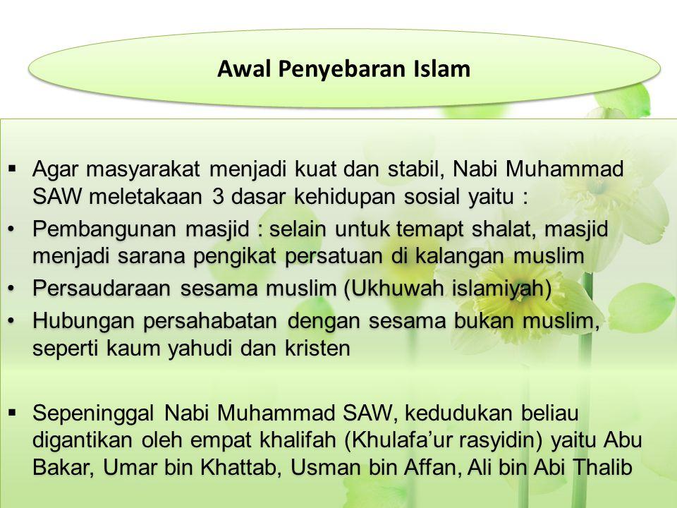  Awal pertumbuhan islam di Saudi Arabia dalam suasana ketidakteraturan yang lazim disebut zaman jahiliyah.  Ditengah-tengah ketidakteraturan tersebu
