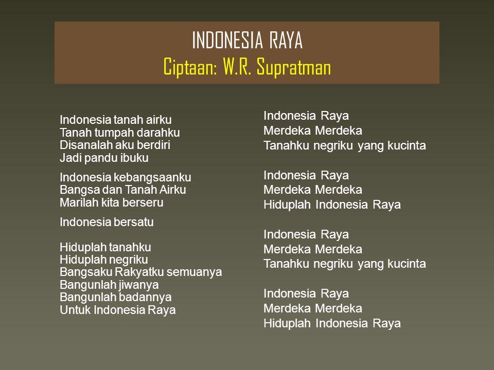 INDONESIA RAYA Ciptaan: W.R.