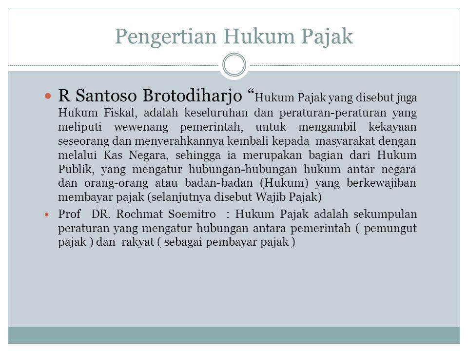 Kedudukan Hukum Pajak Dalam Hukum Indonesia Hukum di Indonesia 1.