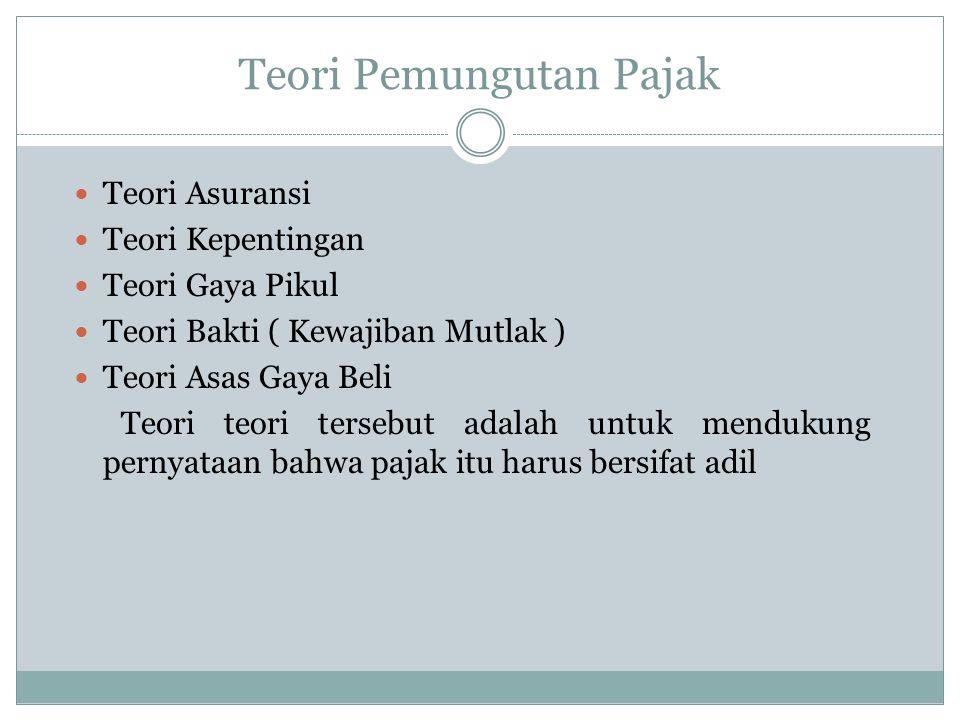 Tarif Pajak Tarif Tetap : Berapapun dasar pengenaan pajaknya, besarnya pajak tetap.