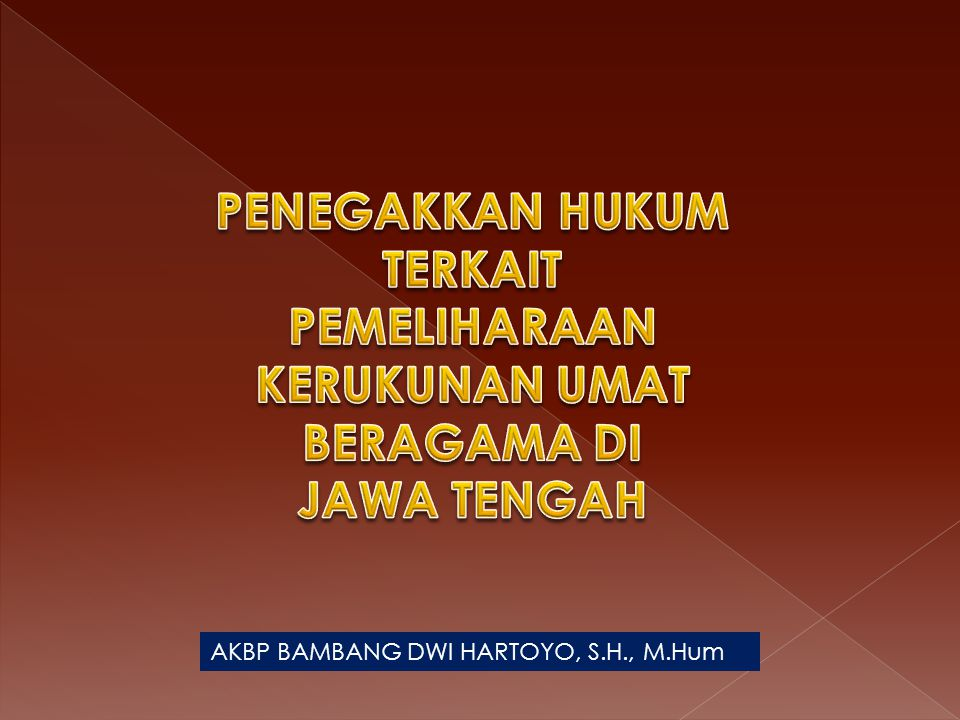 AKBP BAMBANG DWI HARTOYO, S.H., M.Hum