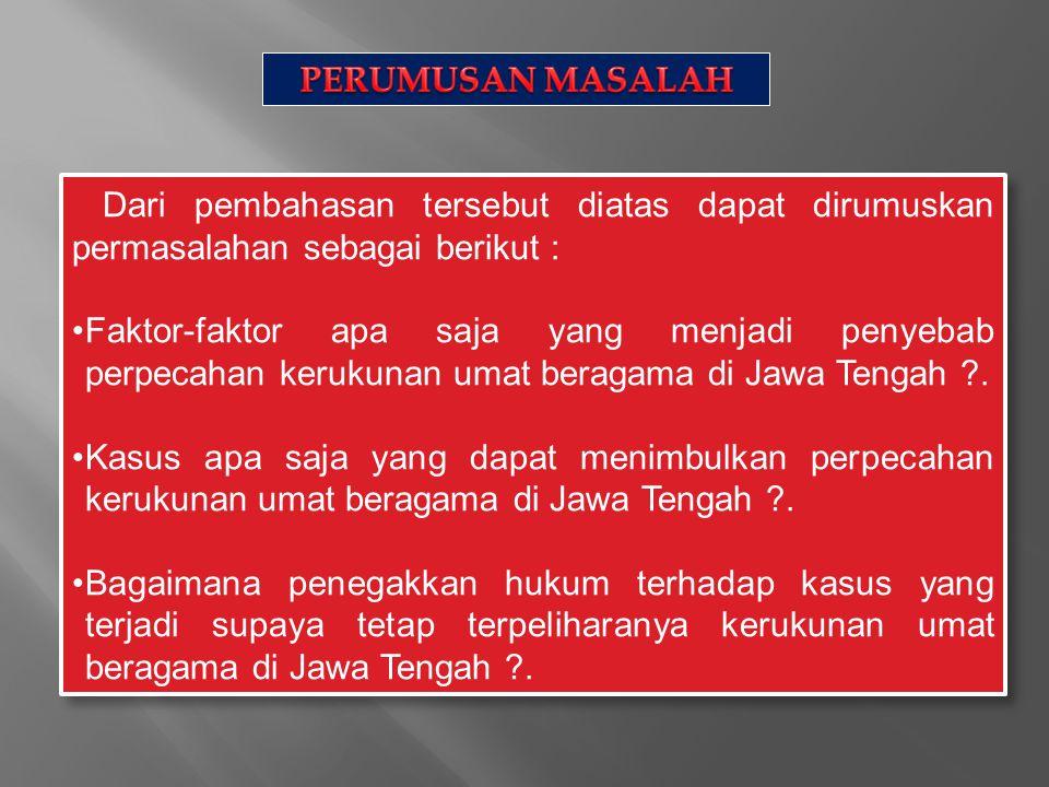 Pasal yang diterapkan terhadap tindak pidana yang berkaitan dengan keagamaan yaitu : 1)Pasal 156a KUHP yaitu tentang penodaan agama.