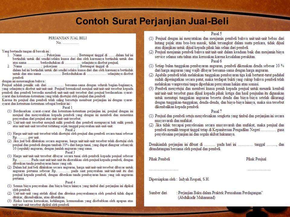 Contoh Surat Perjanjian Jual-Beli