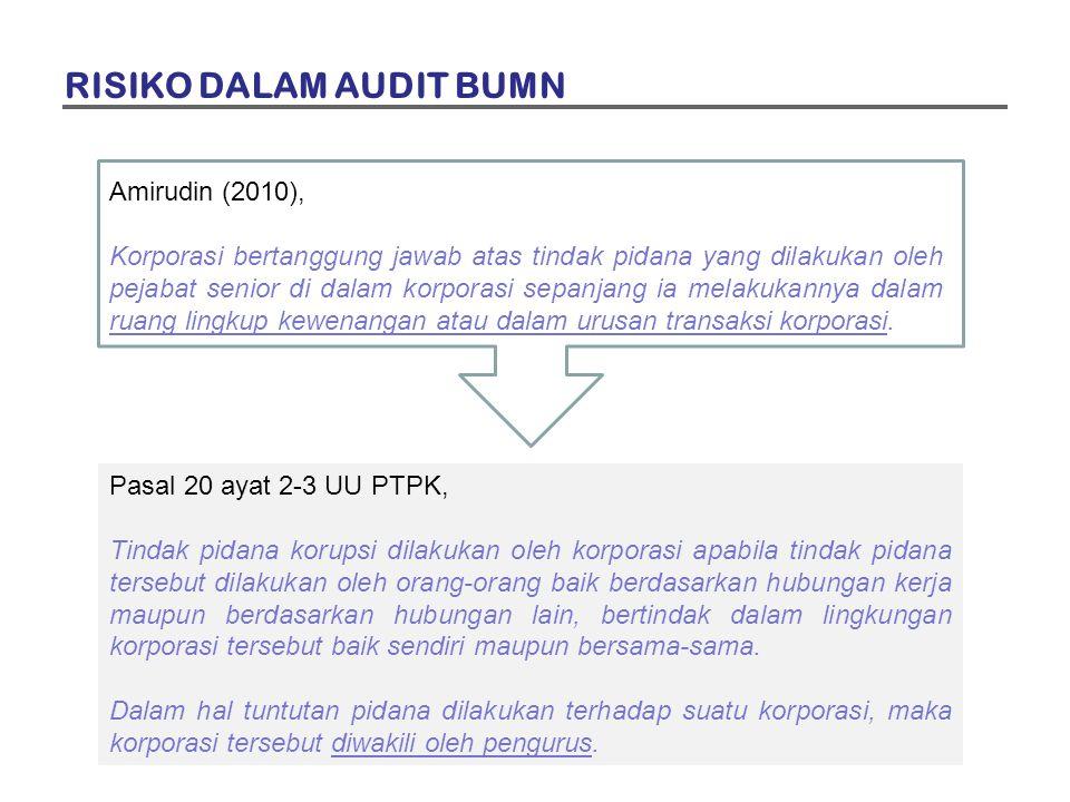 Amirudin (2010), Korporasi bertanggung jawab atas tindak pidana yang dilakukan oleh pejabat senior di dalam korporasi sepanjang ia melakukannya dalam