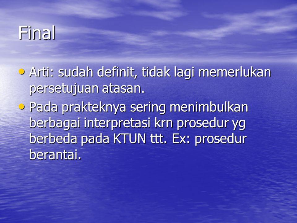 Kasus Final Kasus gugatan LSM thd Keppres 42/1994 ttg bantuan pinjaman kepada Persero PT IPTN.