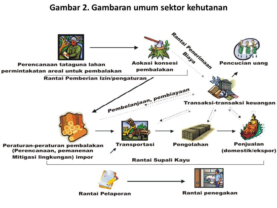 Gambar 2. Gambaran umum sektor kehutanan