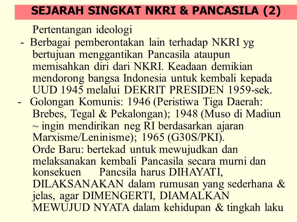 22 Maret 1978 ditetapkan Tap MPR Nomor II/MPR/1978 tentang Pedoman Penghayatan dan Pengamalan Pancasila (P-4 atau EKAPRASETYA PANCA KARSA).