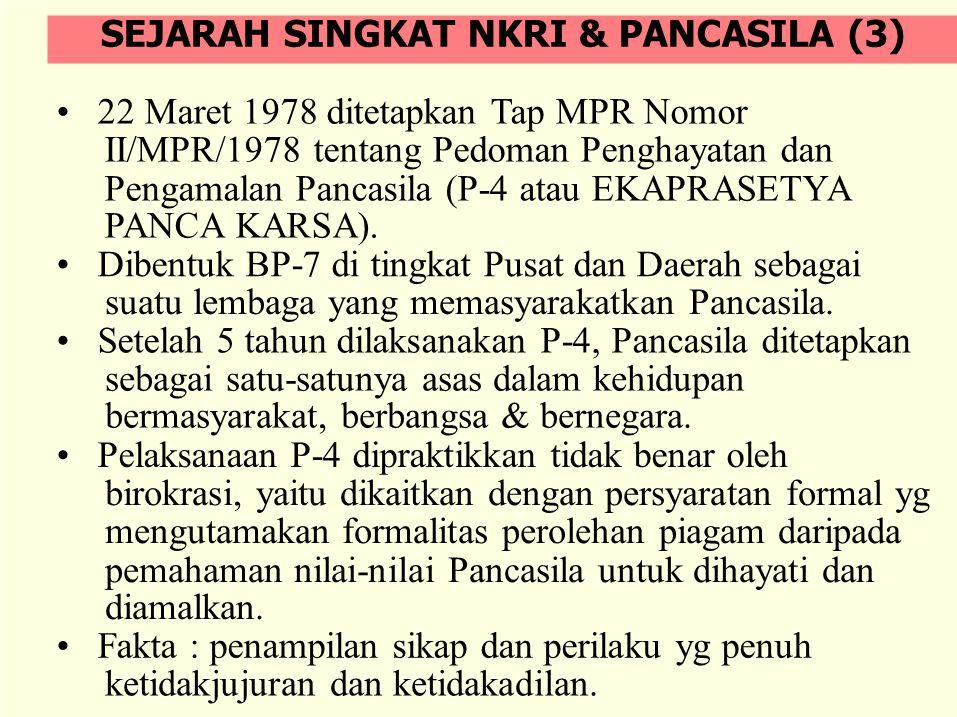 Munculnya berbagai konflik sosial dan konsepsi yang mengarah pada disintegrasi bangsa, Seperti: Aceh, Irian Jaya, Riau; usulan diubahnya NKRI menjadi Negara Federal; Pemberlakuan Syariat Islam di Aceh, dll.