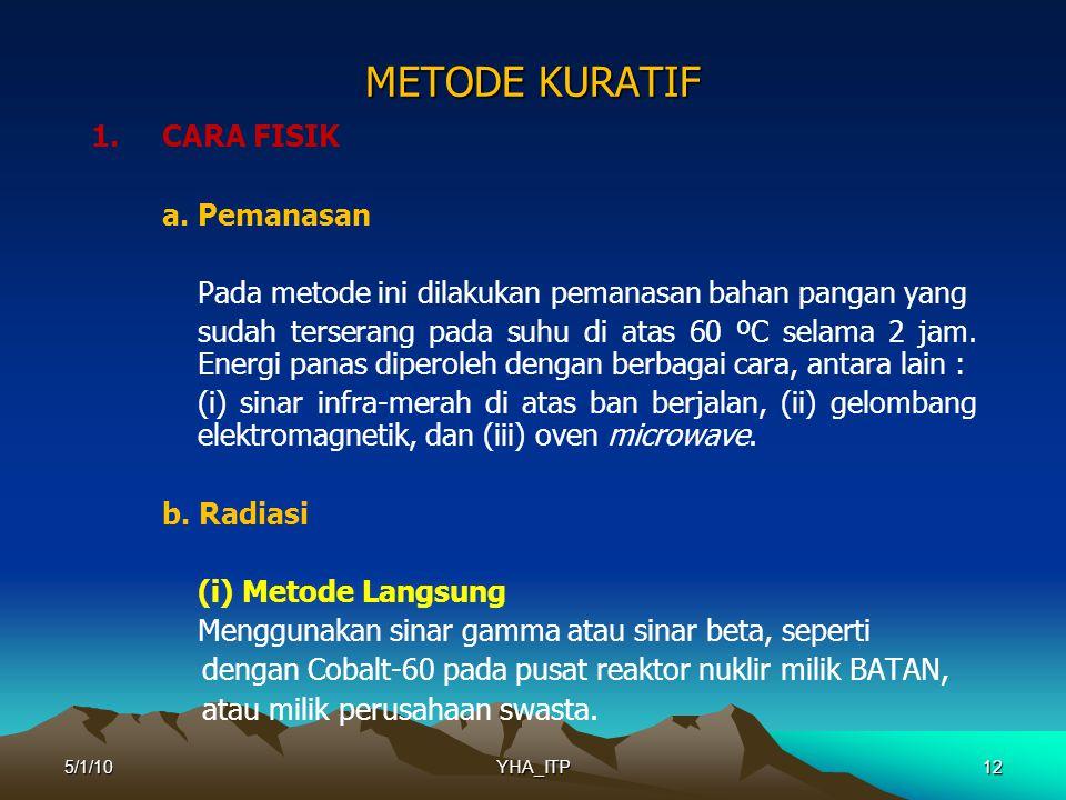 12 METODE KURATIF 1.CARA FISIK a.