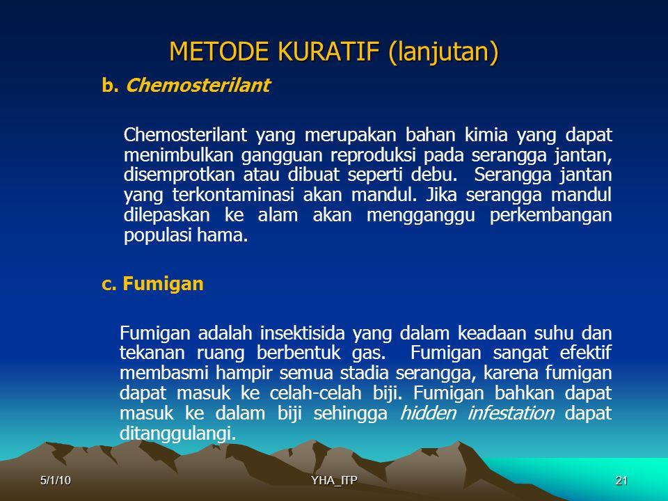 21 METODE KURATIF (lanjutan) b.