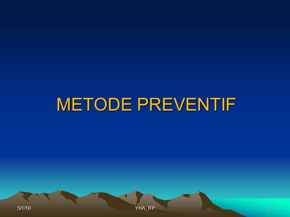 METODE PREVENTIF 55/1/10YHA_ITP