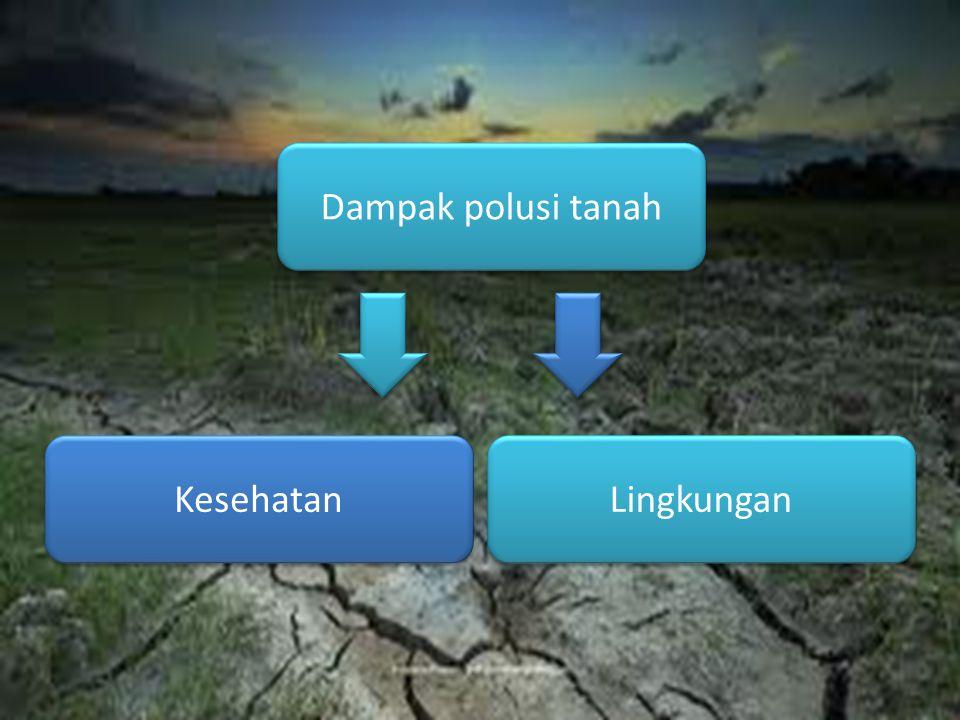 Dampak polusi tanah Lingkungan Kesehatan