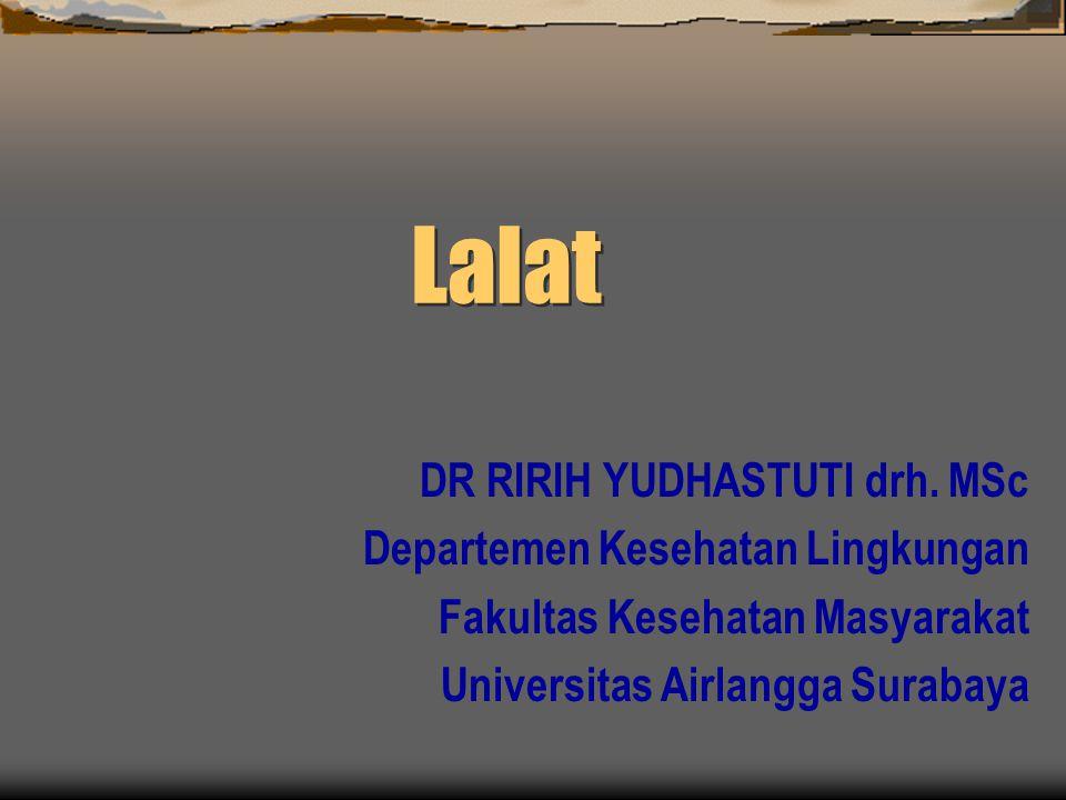 Lalat DR RIRIH YUDHASTUTI drh.