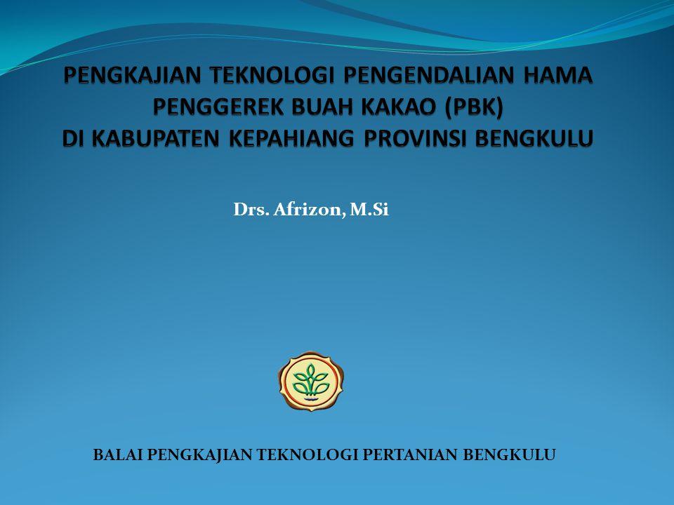 BALAI PENGKAJIAN TEKNOLOGI PERTANIAN BENGKULU Drs. Afrizon, M.Si