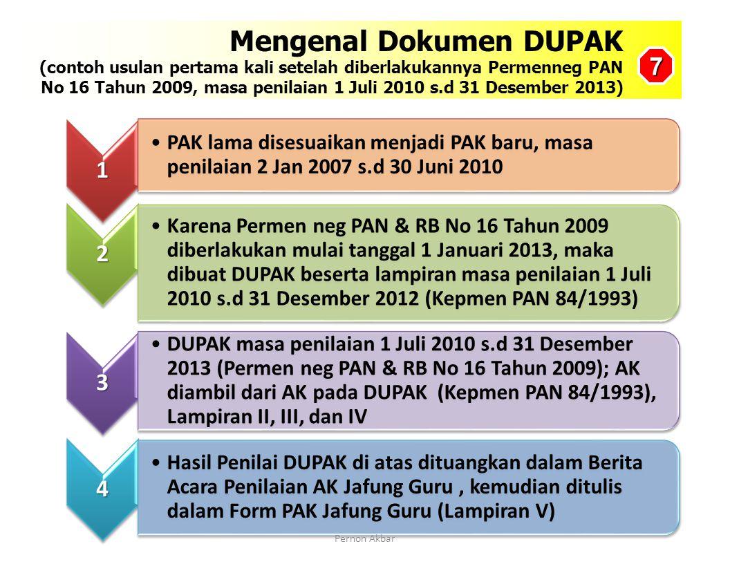Lakukan verifikasi hasil PK Guru, kemudian verifikasi Lampiran II DUPAK dengan Bukti Fisik (Lampiran D atau Format 1A (4) ) Lampiran IILampiran DLampi