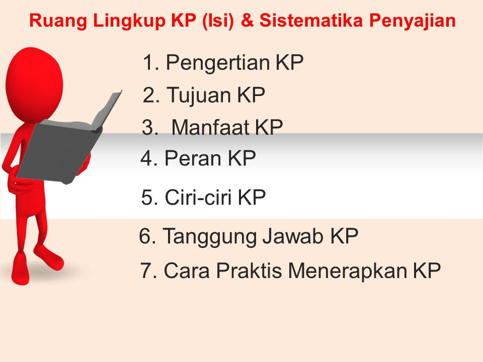 Ruang Lingkup KP (Isi) & Sistematika Penyajian 1.Pengertian KP 2.